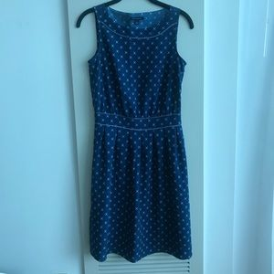 TOMMY HILFIGER Size 2 Blue Star Print Sheath Dress
